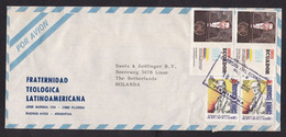 Ecuador: Airmail Cover To Netherlands, 1992, 4 Stamps, President Speech At United Nations, History (minor Creases) - Ecuador