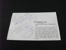 DALLA RIVISTA FERRANIA 1959 V CONCORSO ENAI CINEDOCUMENTARI TIMBRO ALBERGO LAGO PONTECHIANALE CUNEO CADORE DOLOMITI - Unclassified
