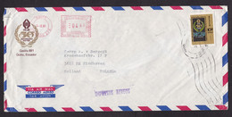 Ecuador: Airmail Cover To Netherlands, 1981, 1 Stamp & Meter Cancel, Stamp & Sent By HCJB, Logo (minor Damage) - Ecuador
