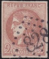 France   .  Y&T   .   40 B      (2 Scans)   .  Signé  .     O    .    Oblitéré - 1870 Ausgabe Bordeaux