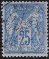 France   .  Y&T   .    78     .       O    .    Oblitéré - 1876-1898 Sage (Type II)