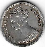 *hong Kong 10 Cents 1893  Km 6.3 - Hongkong