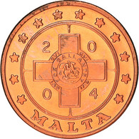 Monnaie, Malte, Fantasy Euro Patterns, 1 Cent, 2004, Proof, FDC, Cuivre - Malta