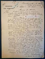 L.A.S 1892 Paul DELOMBRE Député Basses Alpes - Barcelonnette Château De La Chaux - Plésant Saint Pons - Maubeuge Lettre - Autographs