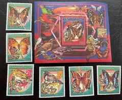 Comores 1989 - 878A-83A+bl.286A MNH (**) - Fauna - Butterflies -Birds - Scouts (volt - Mariposas