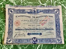 S.A.  COMPTOIR  MARTINIQUAIS -------- Action  De  500 Frs - Agriculture