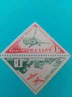 MONACO - Principauté - 2 Timbres-taxe 1953 : Moyens De Transport - Hélicoptère / Pigeons - Unused Stamps