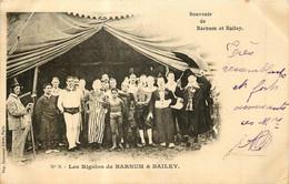 Fantaisie - Cirque - 2 C.P.A. - Souvenir De Barnum & Bailey - Femmes Artistes & Les Rigolos - Circus