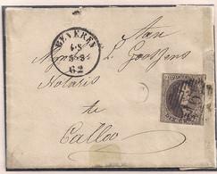 BRIEF N°10 GESCHREVEN IN CAUTER CLINGE GEPOST KIELDRECHT POSTBUS T NAAR CALLO  - ONTWAARD BEVEREN 4-5-62 - 1858-1862 Médaillons (9/12)