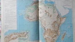 Rare Double Carte Physique Et Economique De L'AFRIQUE Par Drioux & Leroy.  Vers 1872. - Geographical Maps