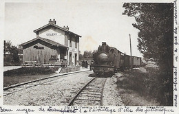 EGLENY- 1945 -  LA GARE - Other Municipalities