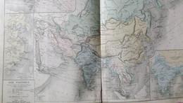 Rare Double Carte De L'ASIE POLITIQUE Dressé Par Les Documents Russe Et Anglais Par Drioux & Leroy.  Vers 1872. - Geographical Maps
