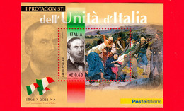 ITALIA - Usato - 2011 - Protagonisti Dell'unità D'Italia - B F - 0,60 € • Carlo Pisacane - Blocs-feuillets