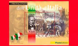 ITALIA - Usato - 2011 - Protagonisti Dell'unità D'Italia -  0,60 € • Carlo Cattaneo - Blocs-feuillets