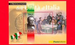 ITALIA - Usato - 2011 - Protagonisti Dell'unità D'Italia - 0,60 € • Camillo Benso Cavour - Blocs-feuillets