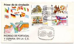 Sobre De Primer Dia De  España 1986 - FDC