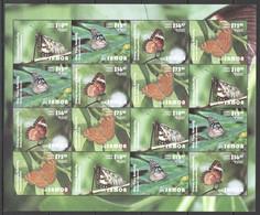 Z630 2015 SAMOA NIUAFO'OU TONGA BUTTERFLIES MICHEL 480 EURO 1SH MNH - Mariposas
