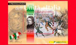 ITALIA - Usato - 2011 - Protagonisti Dell'unità D'Italia - BF - 0,60 € • Vincenzo Gioberti - Blocs-feuillets