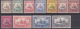 Deutsche Kolonien Samoa - Mi.Nr. 7 - 18 (ohne 13) - Ungebraucht Mit Gummi Und Falzresten MH - Colony: Samoa