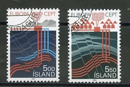Islande - Island - Iceland 1983 Y&T N°551 à 552 - Michel N°598 à 599 (o) - EUROPA - Gebruikt