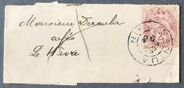 France N°108 Sur Bande Journal 12.7.1909 - Verso Griffe INCONNU A L'APPEL AU HAVRE - (C1269) - 1877-1920: Periodo Semi Moderno
