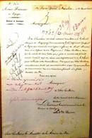 Vicomte De Reiset . Armée D'Espagne, 1825 - Autographs