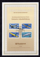 Germany FDS  First Day Sheet  Air Mail Aeroplane Airship 1991 - Andere (Lucht)