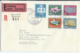 LETTRE PAR EXPRES 1961 AVEC 5 TIMBRES - Lettres & Documents