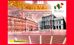 ITALIA - Usato - 2011 - 150º Anniversario Della Proclamazione Del Regno D'Italia - Palazzo Montecitorio - 0,60 - Blocks & Sheetlets