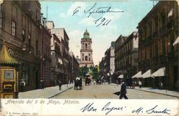 MEXIQUE  MEXICO  Avenida Del 5 Mayo - Mexico