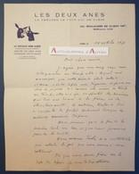 """L.A.S 1951 Jean HEBERT - Directeur Du Théâtre Des Deux ânes """" Le Plus Gai De Paris """" Lettre Autographe - Autographs"""