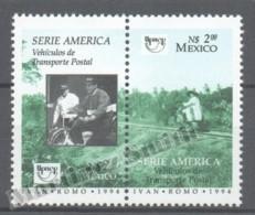 Mexico - Mexique 1994  Yvert 1581-82, América UPAEP, Postage Transports - MNH - Mexiko