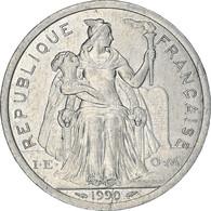 Monnaie, Nouvelle-Calédonie, 2 Francs, 1990, Paris, TTB+, Aluminium, KM:14 - New Caledonia