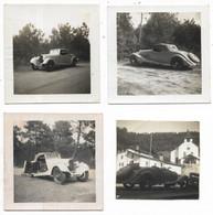 "33-ARCACHON- Devant Villa ""CARMONA"" Etc..., BUGATTI Cabriolet, Type 43,  8 Photos Divers Formats (famille MICHEL) - Cars"