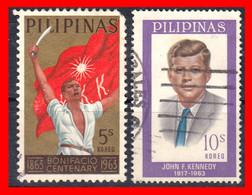 FILIPINAS.-  PHILIPPINES.- SELLOS AÑO 1963 100 ANIVERSARIO DEL NACIMIENTO DE ANDRES BONIFACIO - Philippines