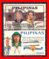 FILIPINAS.-  PHILIPPINES.- SELLOS AÑO 1965 VISITA DEL PRESIDENTE GERMAN REPUBLICA FEDERAL - Philippines