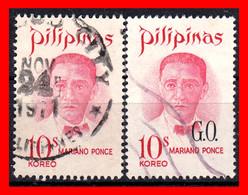 FILIPINAS.-  PHILIPPINES.- SELLOS AÑO 1970 FAMOSOS FILIPINOS - Philippines