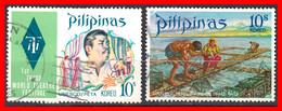 FILIPINAS.-  PHILIPPINES.- SELLOS AÑO 1973 FESTIVAL DE TEATRO TERCER MUNDO MANILA - Philippines