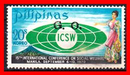 FILIPINAS.-  PHILIPPINES.- SELLOS AÑO 1970 CONFERENCIA INTERNACIONAL SOBRE BIENESTAR SOCIAL - Philippines
