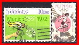 FILIPINAS.-  PHILIPPINES.- SELLOS AÑO 1972 OLIMPIADAS DE MUNICH ALEMANIA - Philippines