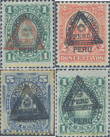 Ref. 655042 * HINGED * - PERU. 1883. PERU Y EL SOL, SOBRECARGA TRIANGULAR - Peru