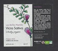 Etiquette De Whisky  -  Cicia Sativa  -   Brasserie La Bambelle  à  Saint Gravé  (56) - Whisky