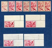 ⭐ France - Variété - YT PA N° 17 - Poste Aérienne - Couleurs - Pétouilles - Neuf Sans Charnière - 1946 ⭐ - Varieties: 1945-49 Mint/hinged
