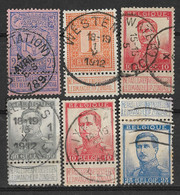 Belgium 1894-1912 Lot Of 6 Nice Used Stamps - 1912 Pellens