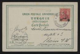 TREASURE HUNT [03359] German Post Offices In The Turkish Empire 1901 Ill. Post Card From Smyrna Bearing 20pa On 10 Pf - Ufficio: Turchia