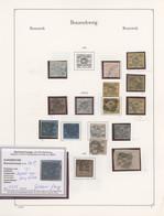 Braunschweig - Marken Und Briefe: 1852/1865, Gestempelte Sammlung Von 28 Marken Auf Albenblättern, E - Brunswick