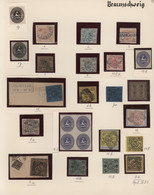 Braunschweig - Marken Und Briefe: 1852/1865, Meist Gestempelte, Teils Auch Ungebrauchte Sammlung Von - Brunswick