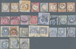 Deutsche Post In Der Türkei - Vorläufer: 1872/1900, Partie Von 27 Vorläufer-Marken, Unterschiedliche - Ufficio: Turchia