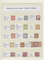Deutsche Post In Der Türkei: 1870/1908, Gestempelte Und Ungebrauchte Sammlung Incl. Vorläufern Auf L - Ufficio: Turchia
