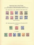 Deutsche Post In Der Türkei: 1884/1912, Saubere Gestempelte Sammlung Auf Attraktiv Beschrifteten Alb - Ufficio: Turchia